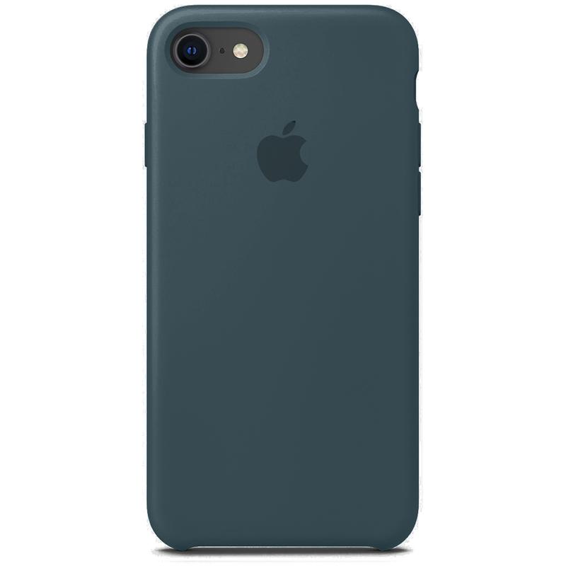 Case Capinha Verde Marinho para iPhone 7, 8 e SE 2º Geração de Silicone