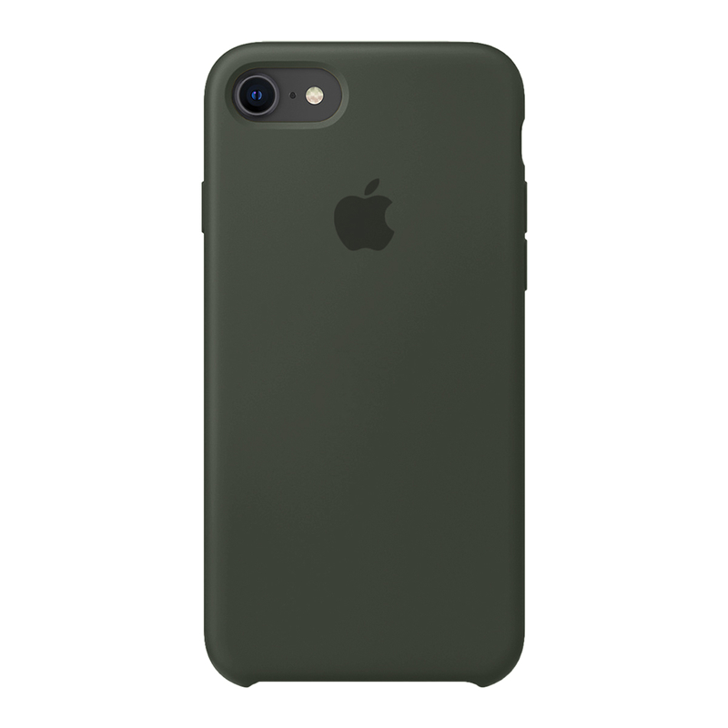 Case Capinha Verde Militar para iPhone 7, 8 e SE 2º Geração de Silicone