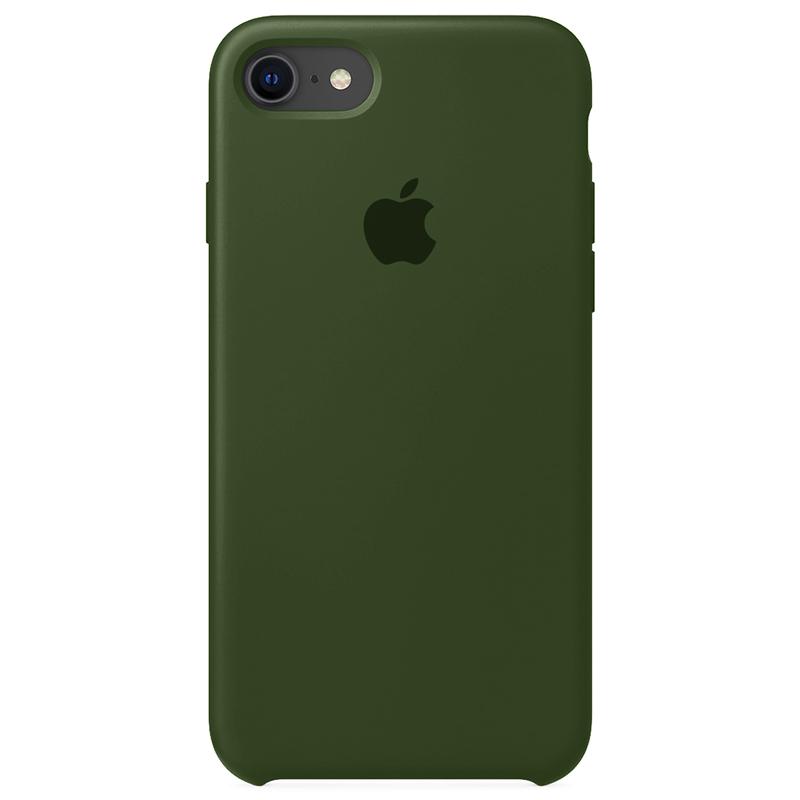 Case Capinha Verde Musgo para iPhone 7, 8 e SE 2º Geração de Silicone