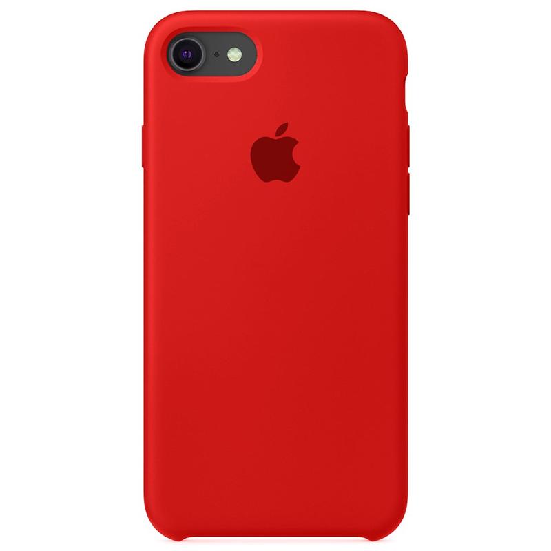 Case Capinha Vermelha para iPhone 7, 8 e SE 2º Geração de Silicone