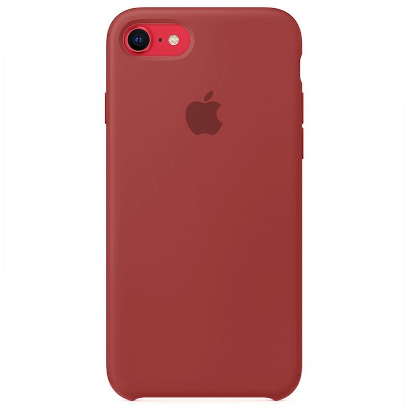 Case Capinha Vermelho Antigo para iPhone 7, 8 e SE 2º Geração de Silicone