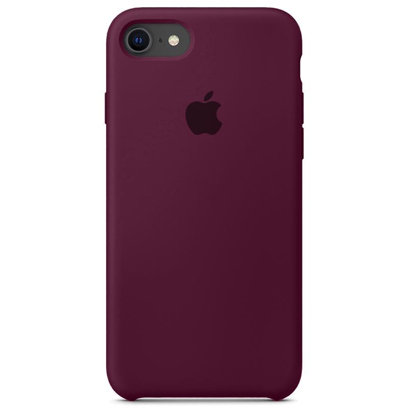 Case Capinha Vermelho Bordô para iPhone 7, 8 e SE 2º Geração de Silicone