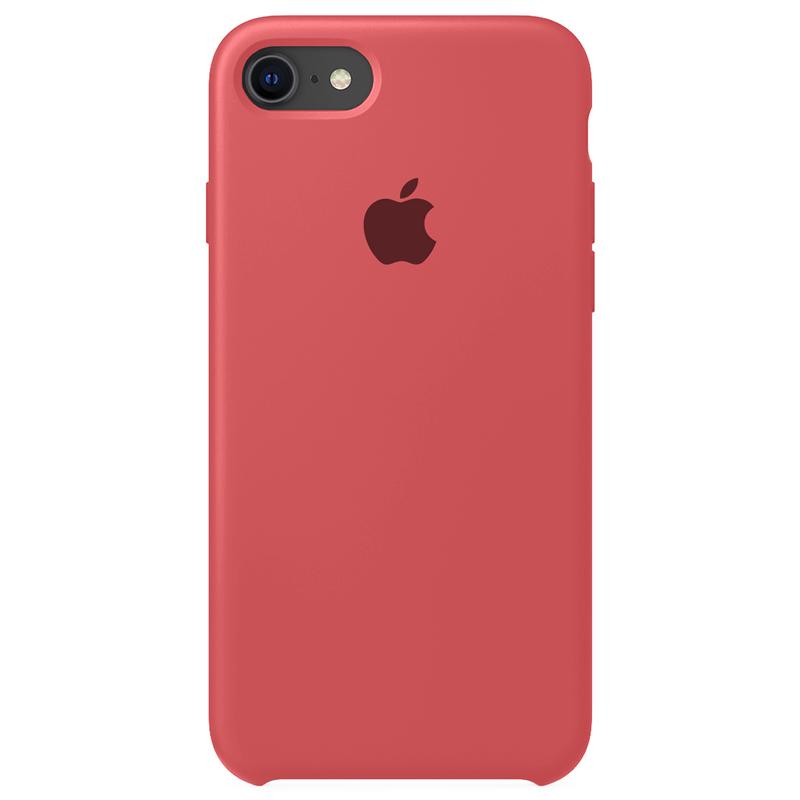 Case Capinha Vermelho Claro para iPhone 7, 8 e SE 2º Geração de Silicone