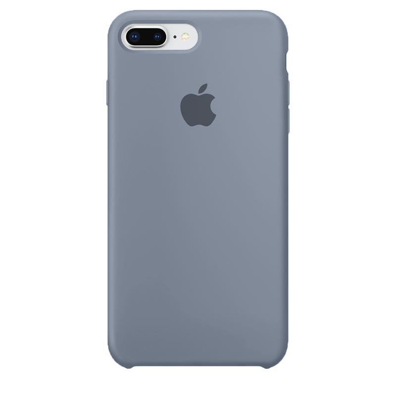 Case Capinha de Silicone Cinza Lavanda para iPhone 7 Plus e 8 Plus