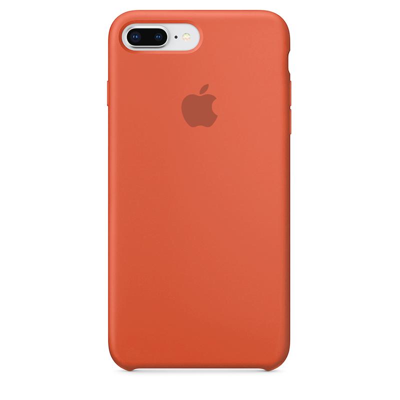 Case Capinha de Silicone Laranja para iPhone 7 Plus e 8 Plus
