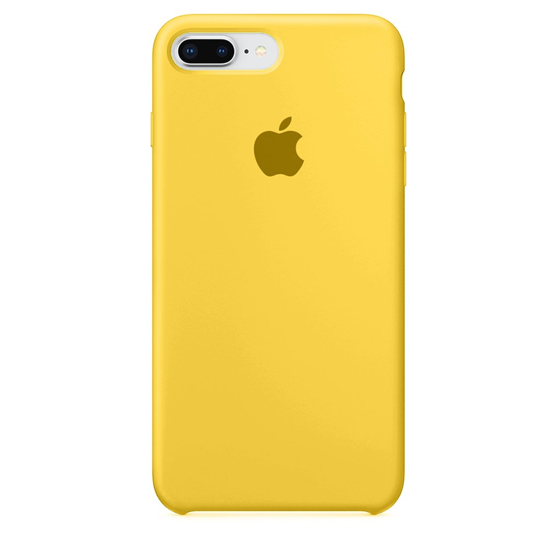 Case Capinha de Silicone Amarela para iPhone 7 Plus e 8 Plus