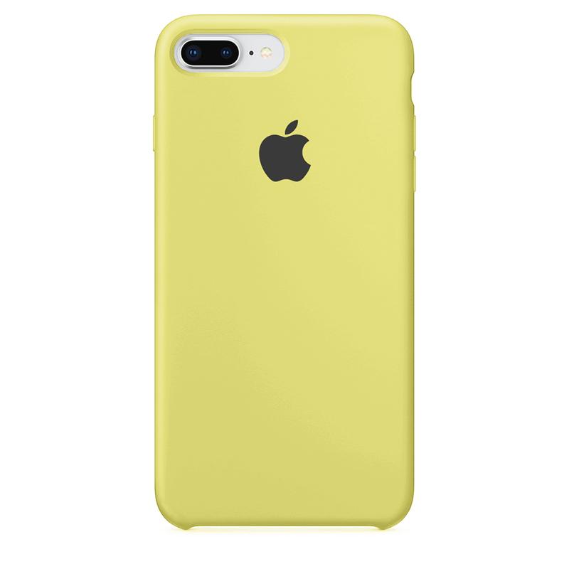Case Capinha de Silicone Amarelo Limão para iPhone 7 Plus e 8 Plus