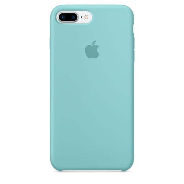 Case Capinha de Silicone Azul Mar para iPhone 7 Plus e 8 Plus