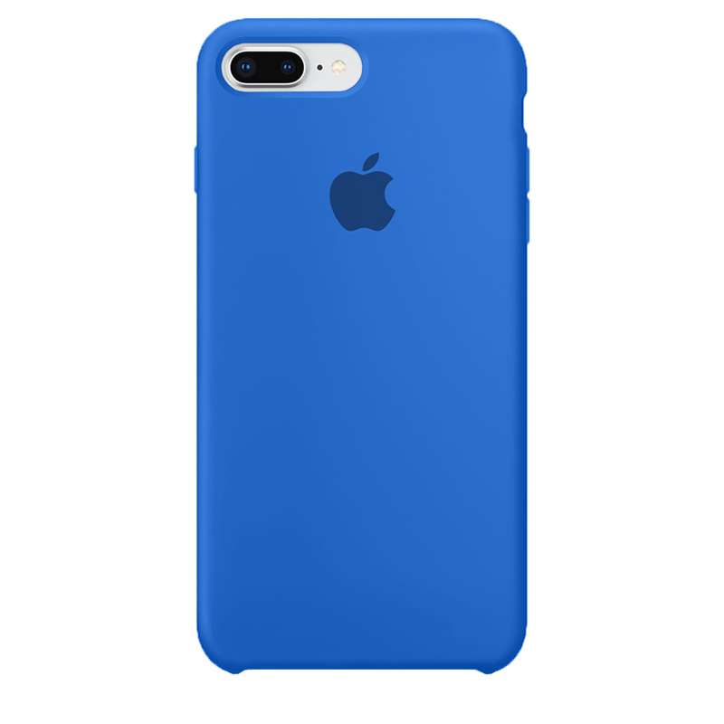 Case Capinha de Silicone Azul Royal para iPhone 7 Plus e 8 Plus