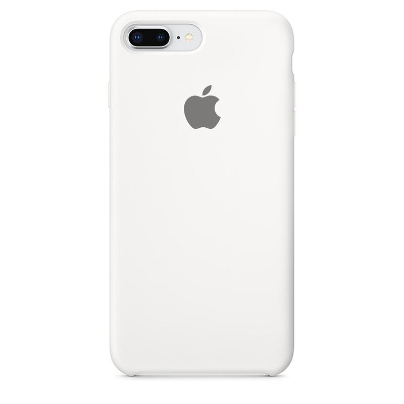 Case Capinha de Silicone Branca para iPhone 7 Plus e 8 Plus