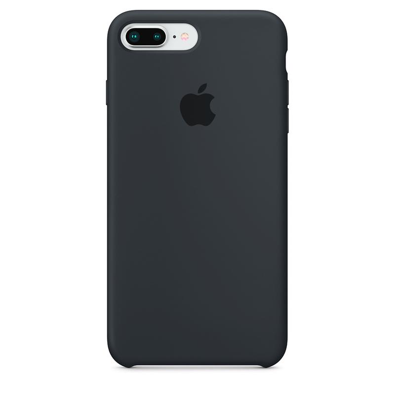 Case Capinha de Silicone Cinza Escuro para iPhone 7 Plus e 8 Plus