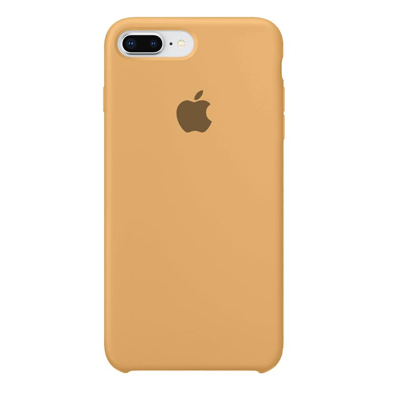 Case Capinha de Silicone Mostarda para iPhone 7 Plus e 8 Plus