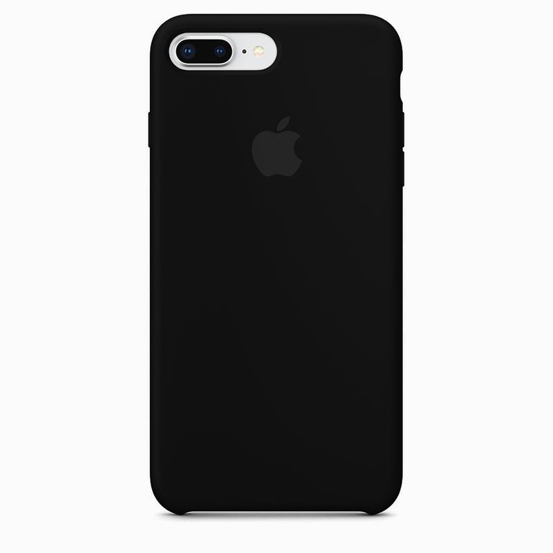 Case Capinha de Silicone Preta para iPhone 7 Plus e 8 Plus