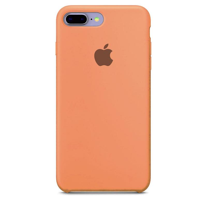 Case Capinha de Silicone Rosa Pêssego para iPhone 7 Plus e 8 Plus