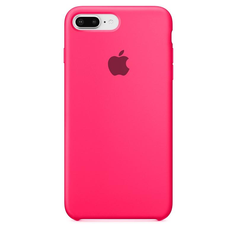 Case Capinha de Silicone Rosa Pink para iPhone 7 Plus e 8 Plus