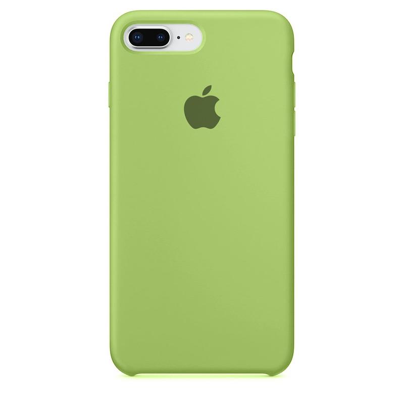 Case Capinha de Silicone Verde Menta para iPhone 7 Plus e 8 Plus