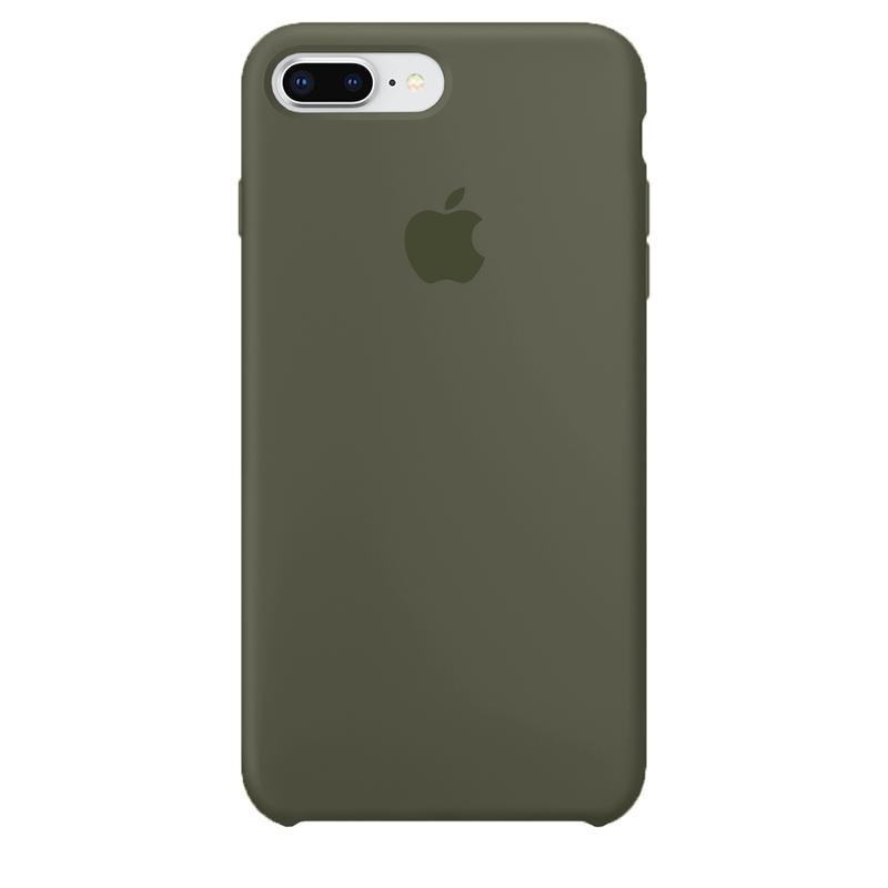 Case Capinha de Silicone Verde Musgo para iPhone 7 Plus e 8 Plus