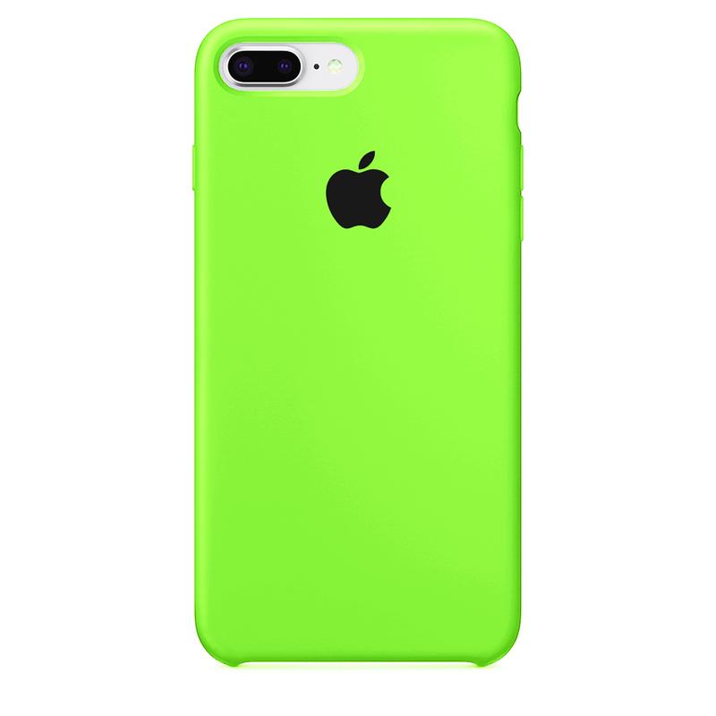 Case Capinha de Silicone Verde Neon para iPhone 7 Plus e 8 Plus