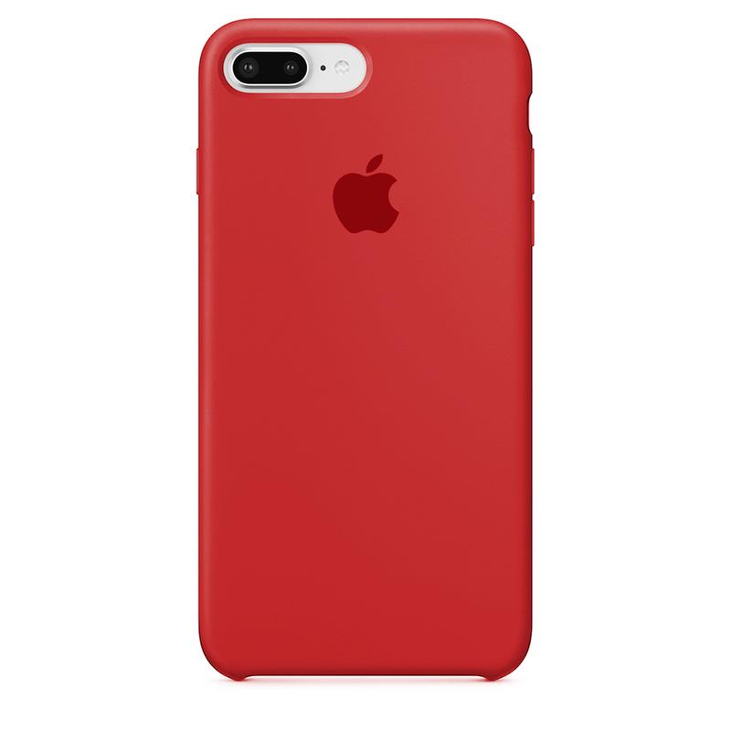Case Capinha de Silicone Vermelha para iPhone 7 Plus e 8 Plus