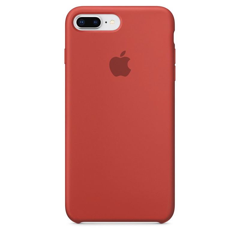 Case Capinha de Silicone Vermelho Antigo para iPhone 7 Plus e 8 Plus