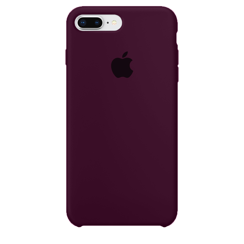 Case Capinha de Silicone Vermelho Bordô para iPhone 7 Plus e 8 Plus