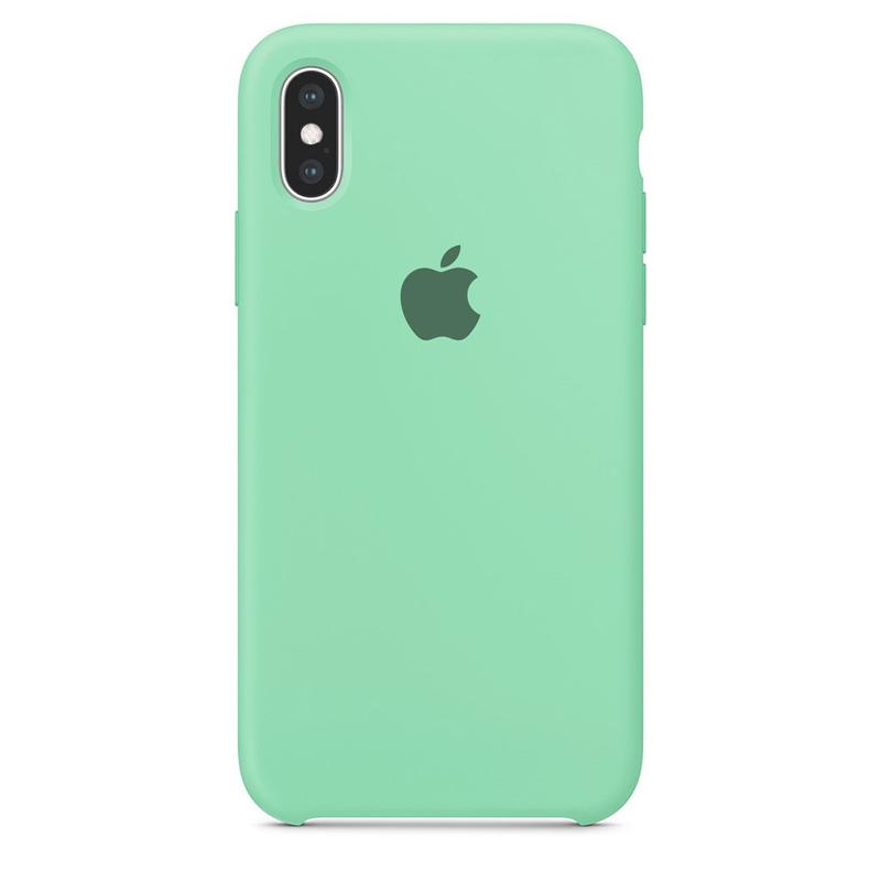 Case Capinha Azul Tiffany para iPhone X e XS de Silicone