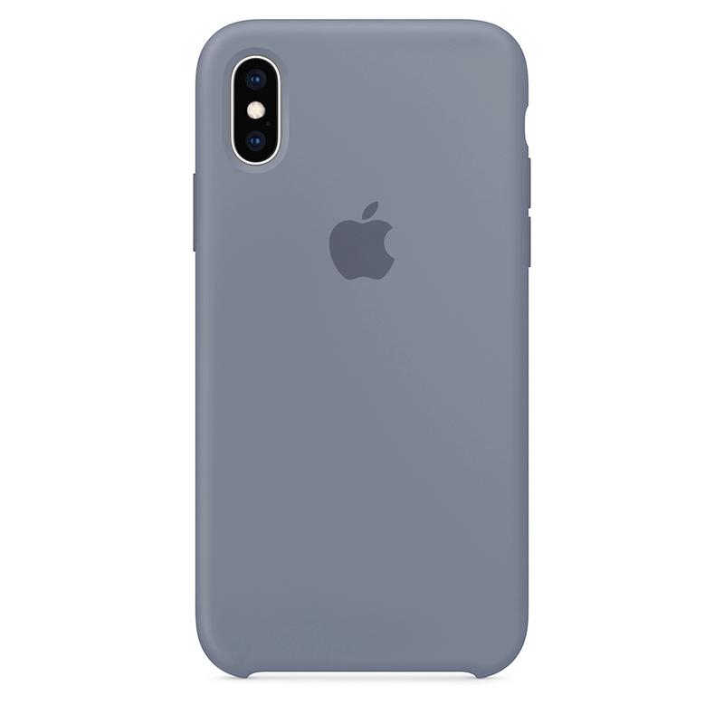 Case Capinha Cinza Lavanda para iPhone X e XS de Silicone