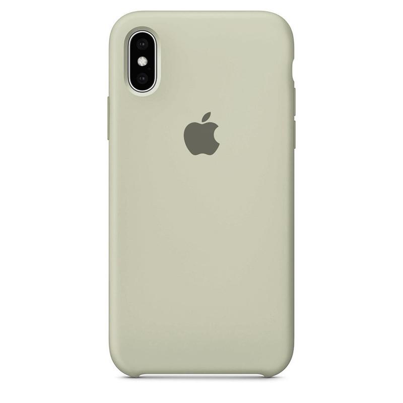 Case Capinha Cinza para iPhone X e XS de Silicone