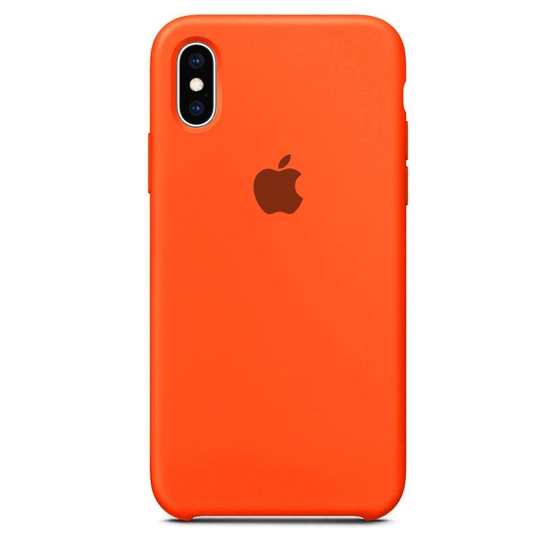 Case Capinha Laranja para iPhone X e XS de Silicone