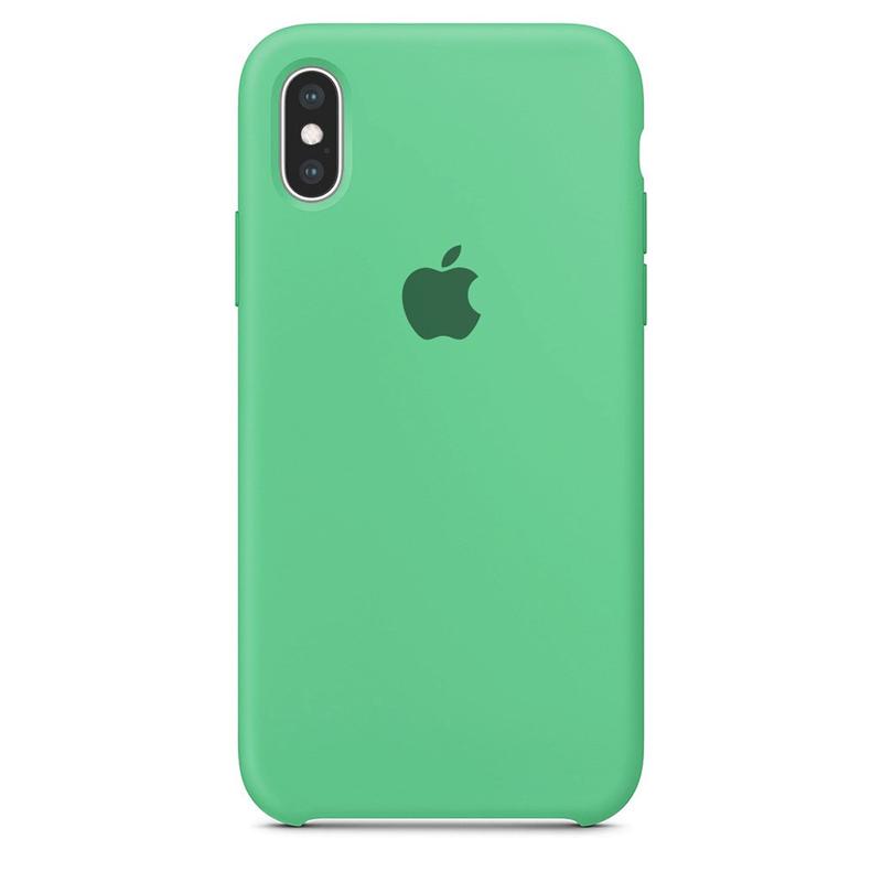 Case Capinha Verde Água para iPhone X e XS de Silicone