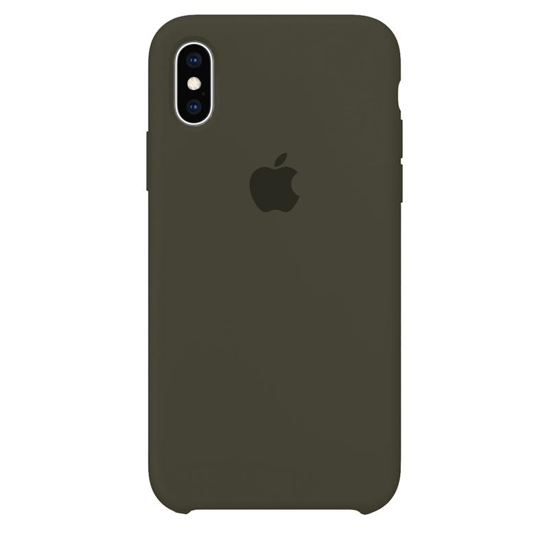Case Capinha Verde Musgo para iPhone X e XS de Silicone