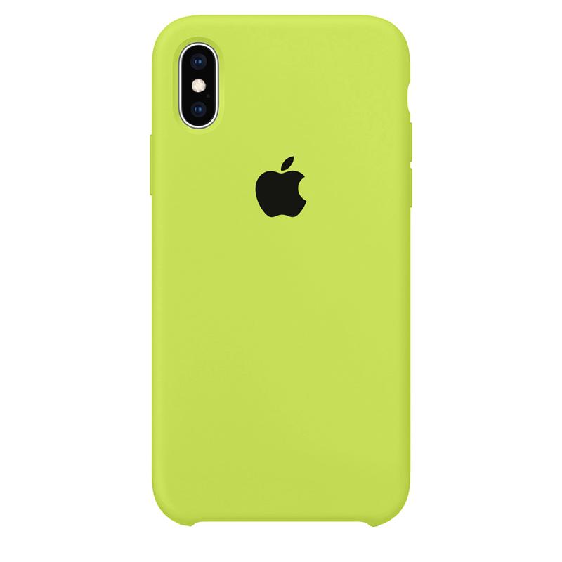 Case Capinha Verde Neon para iPhone X e XS de Silicone