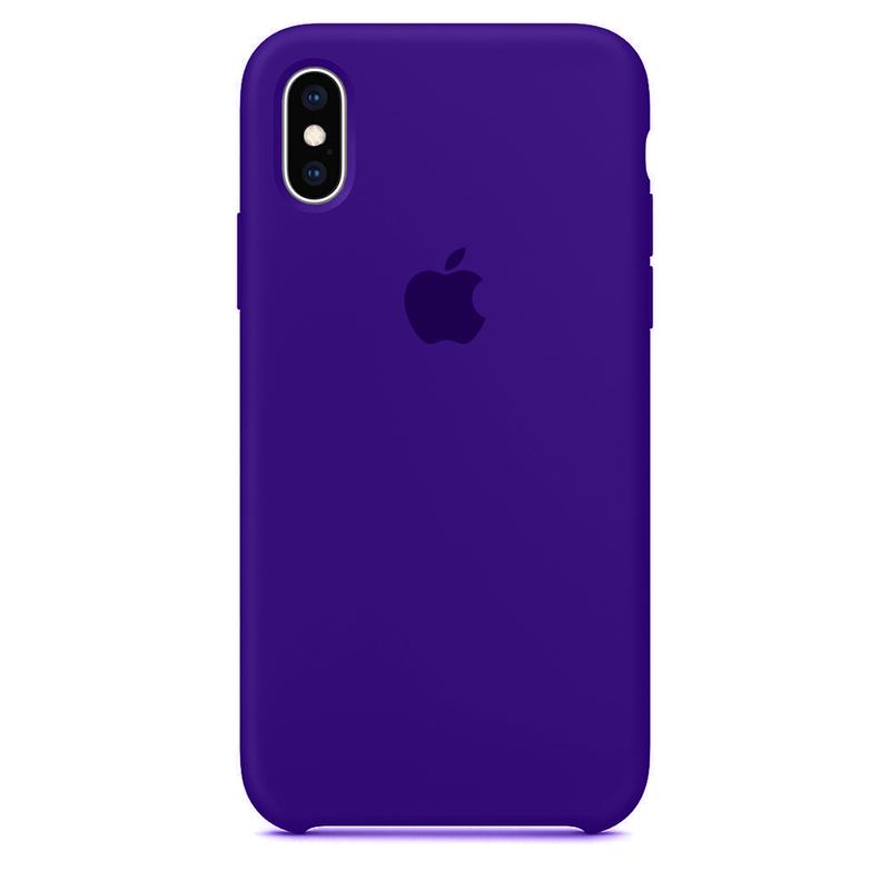 Case Capinha Violeta para iPhone X e XS de Silicone