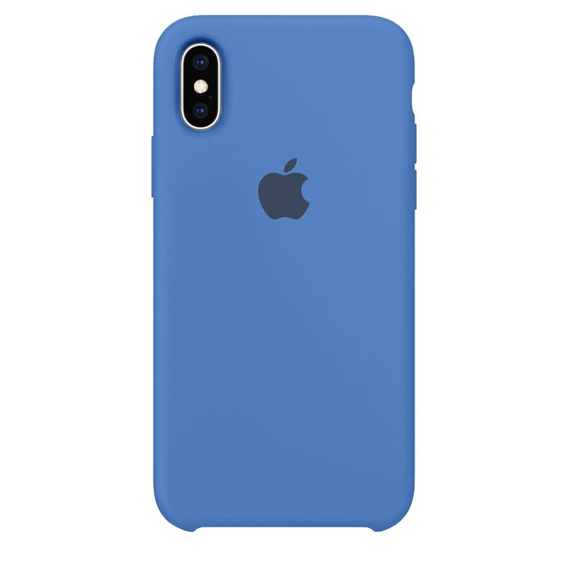 Case Capinha Azul Royal para iPhone X e XS de Silicone