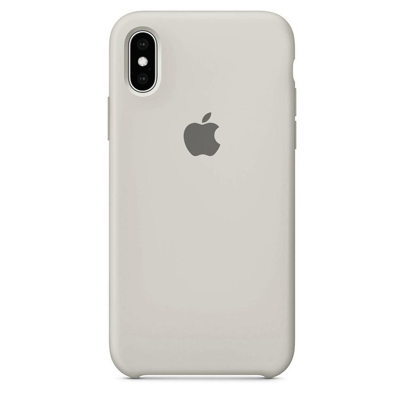 Case Capinha Branco Off-White para iPhone X e XS de Silicone