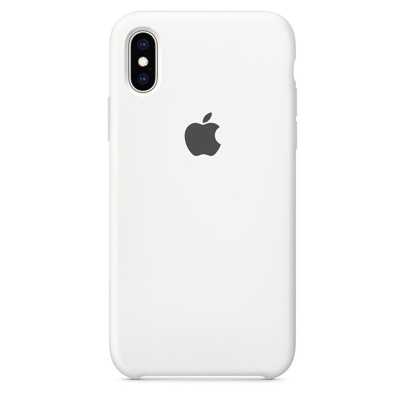 Case Capinha Branca para iPhone X e XS de Silicone