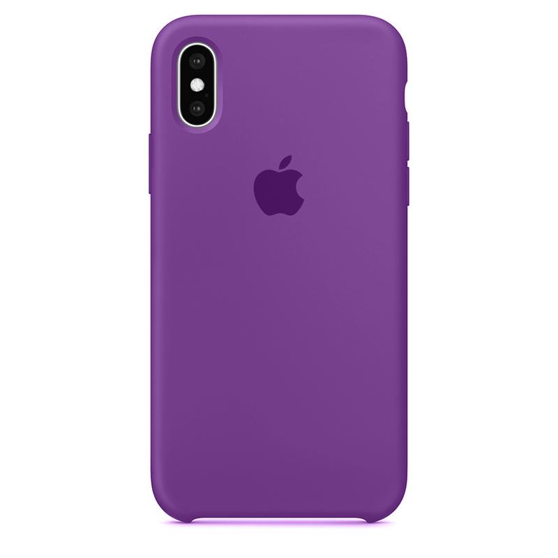 Case Capinha Roxa para iPhone X e XS de Silicone