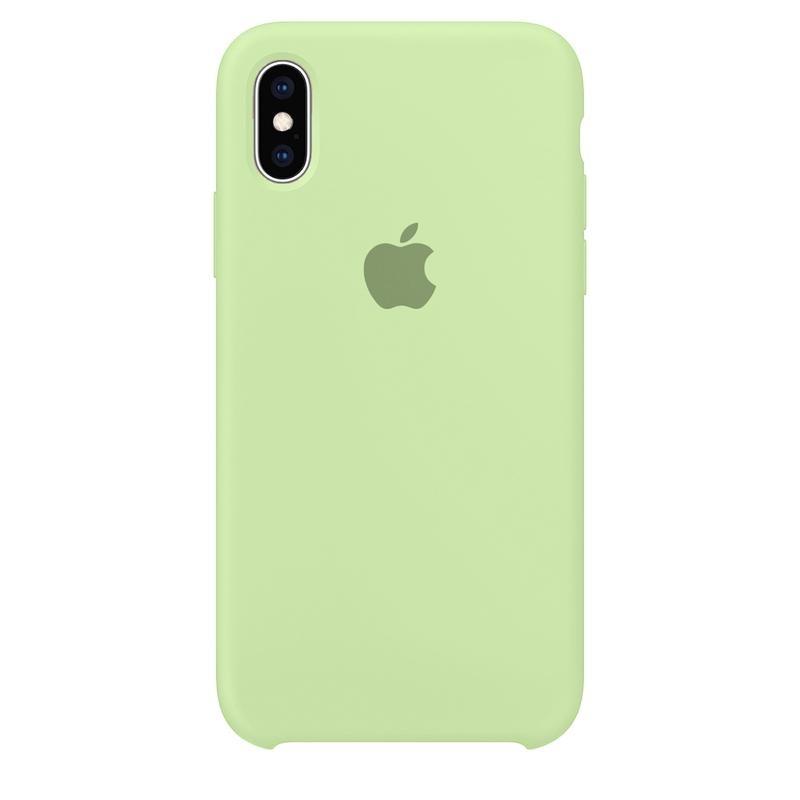 Case Capinha Verde Pistache para iPhone X e XS de Silicone