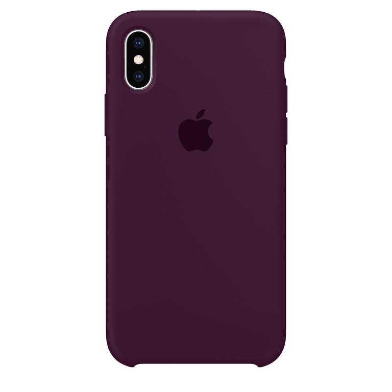 Case Capinha Vermelho Bordô para iPhone X e XS de Silicone