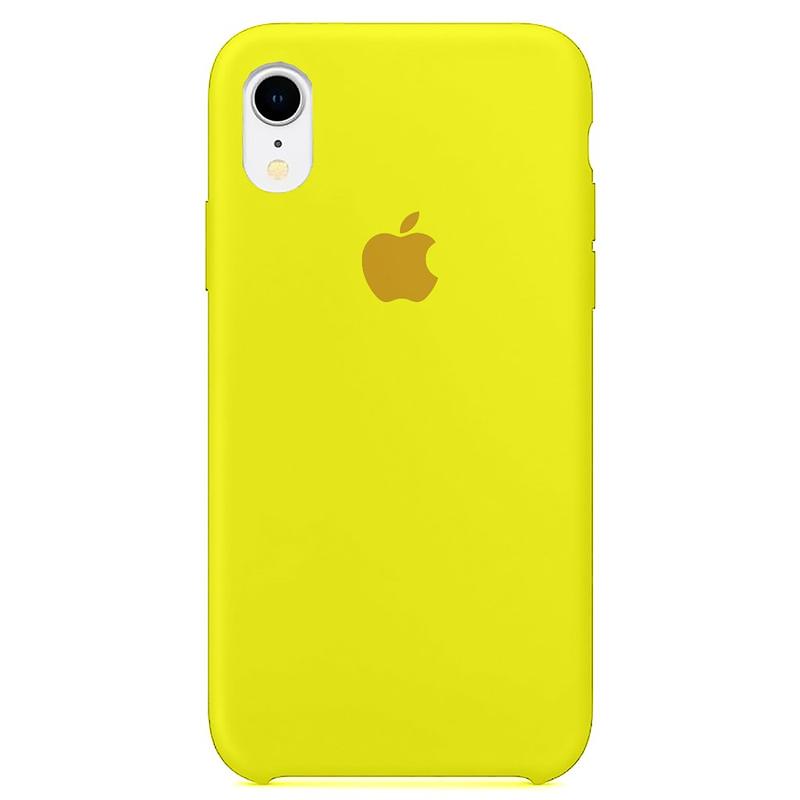 Case Capinha Amarelo Limão para iPhone XR de Silicone