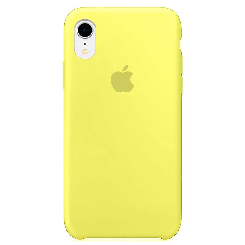 Case Capinha Amarelo Neon para iPhone XR de Silicone