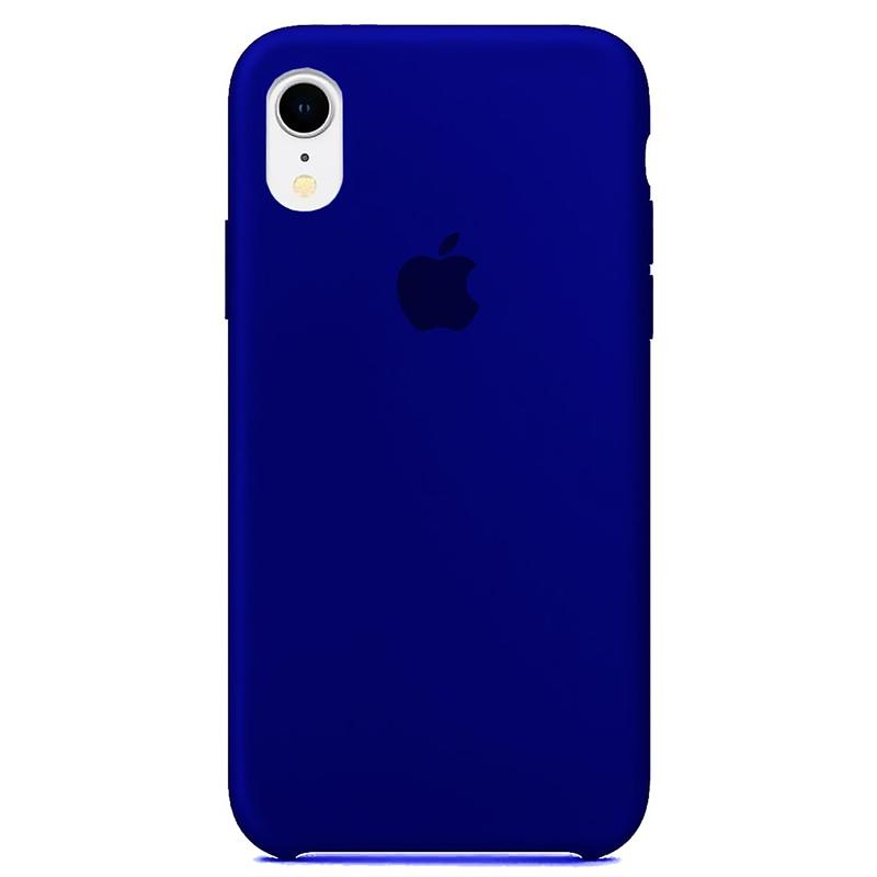 Case Capinha Azul Caneta para iPhone XR de Silicone