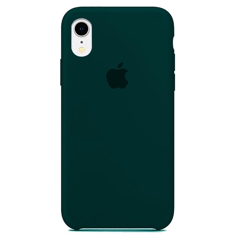 Case Capinha Verde Escuro para iPhone XR de Silicone