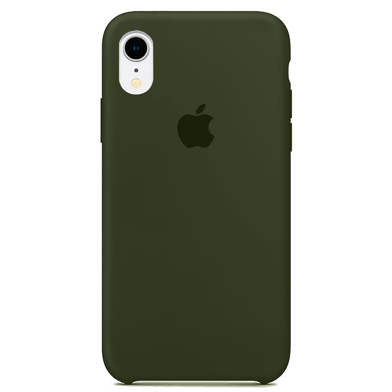 Case Capinha Verde Musgo para iPhone XR de Silicone