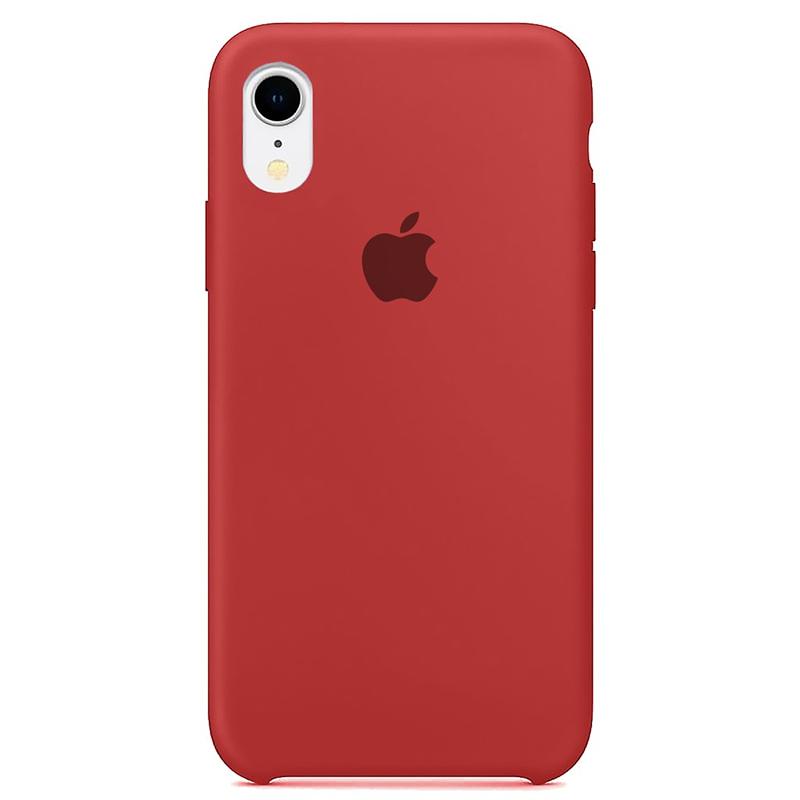 Case Capinha Vermelho para iPhone XR de Silicone