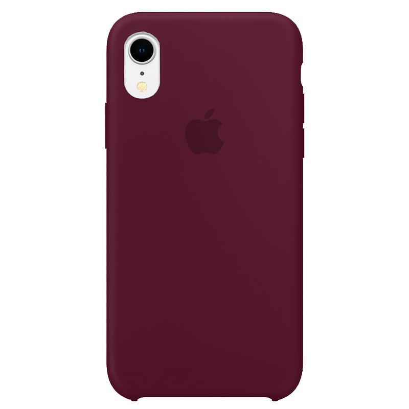 Case Capinha Vermelho Bordô para iPhone XR de Silicone