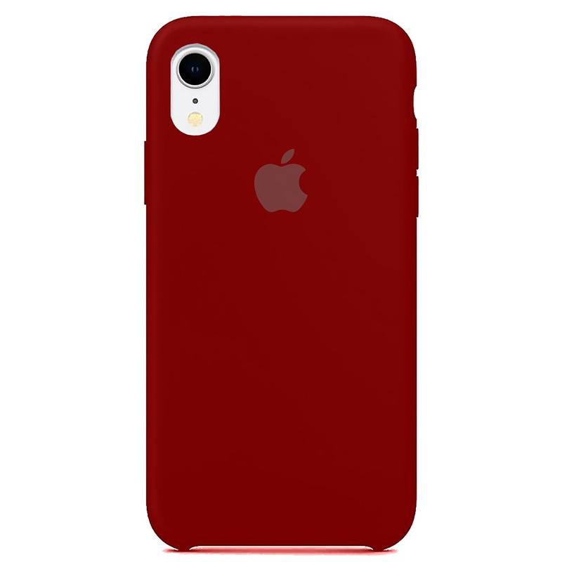 Case Capinha Vermelho Escuro para iPhone XR de Silicone
