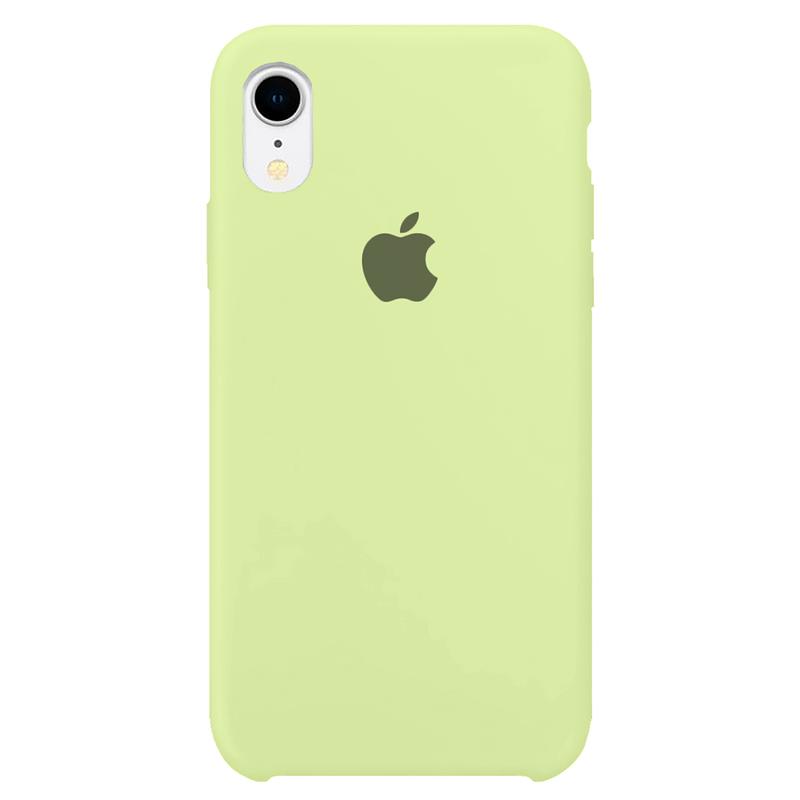 Case Capinha Verde Pistache para iPhone XR de Silicone