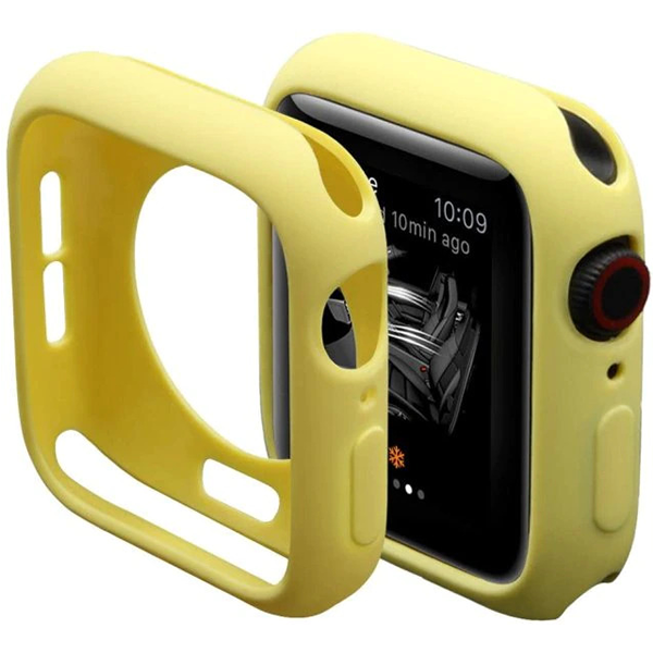 Bumper Case Amarela para Apple Watch Series (1/2/3/4/5/6/SE) de Silicone