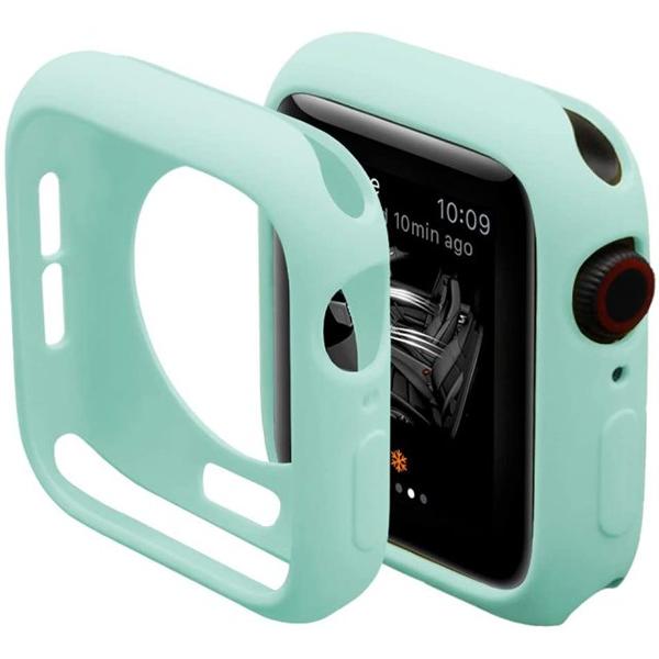 Bumper Case Azul Tiffany para Apple Watch Series (1/2/3/4/5/6/SE) de Silicone